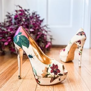 Ted Baker Carlina Floral Peep Toe